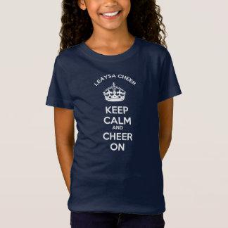 T-Shirt Soyez calme et acclamation DESSUS