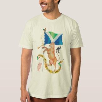 T-shirt Soyez courageux. Soyez aimable. Vont le Vegan.