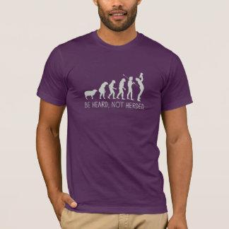 T-shirt Soyez entendu non vécu en troupe