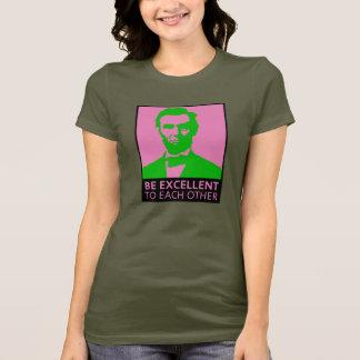 T-shirt Soyez excellent (rose/vert)
