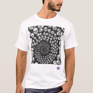 T-shirt Spirale de crâne