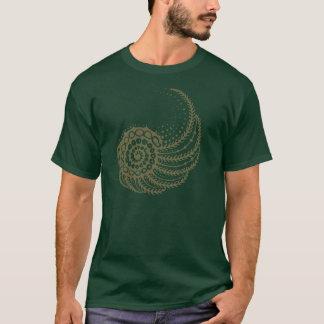 T-shirt Spirale organique bronzage
