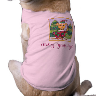 T-shirt Spiritueux de fabrication mignons chien lumineux