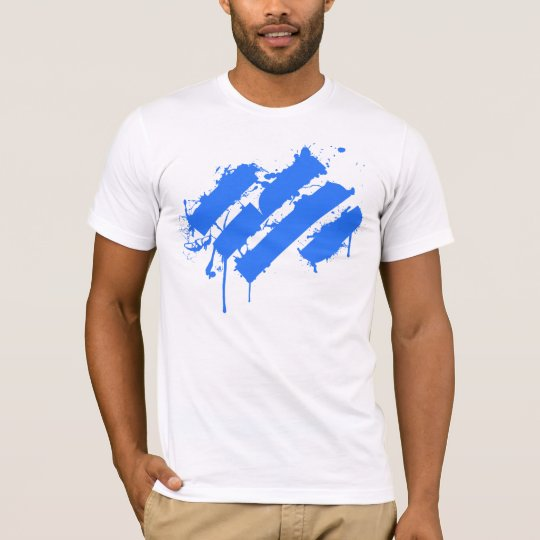 T-shirt Splatter blue