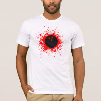 T-shirt splatz de bowling