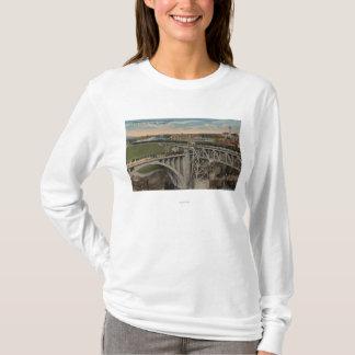 T-shirt Spokane, WA - achèvement ferroviaire Pacifique des