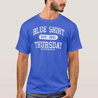 T-shirt sportif de jeudi de chemise bleue