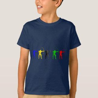 T-shirt Sports d'Archer Etats-Unis de jeux d'été de tir à