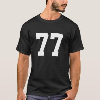 T-shirt Sports numéro 77