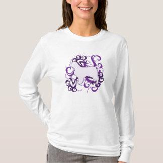 T-shirt Springer spaniel pourpre de Gallois de remous