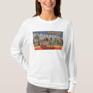 T-shirt Springfield, le Massachusetts - grande lettre
