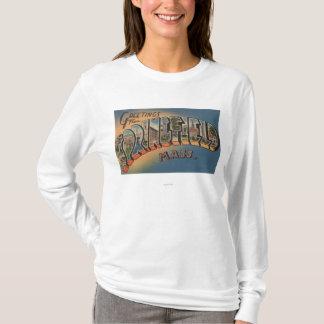 T-shirt Springfield, le Massachusetts - grande lettre 2