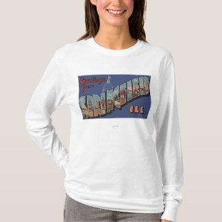 T-shirt Springfield, l'Illinois - grandes scènes de lettre