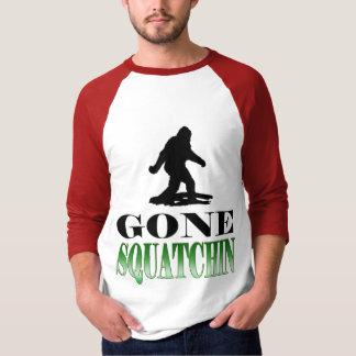 T-shirt Squatching allé, trouvant le tee - shirt de