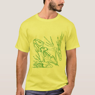 T-shirt squelette de grenouille