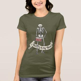 T-shirt Squelette de marche de tambour de piège