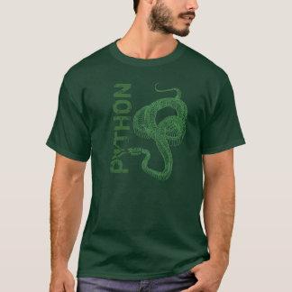 T-shirt Squelette de python, serpent enroulé prêt à