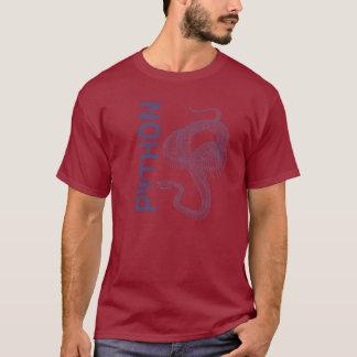 T-shirt Squelette de serpent, style de tatouage de python