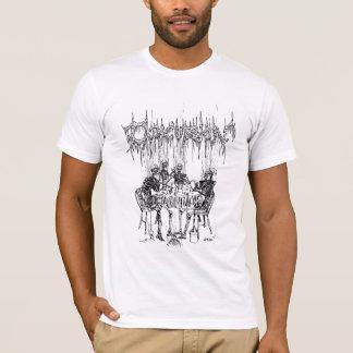 T-shirt Squelette de tabagisme de choc