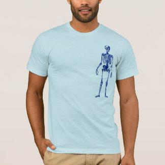 T-shirt squelette excentré