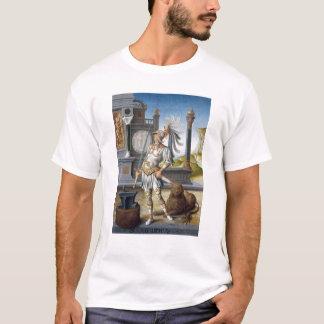 T-shirt St Adrian dans l'armure dans un paysage ouvert