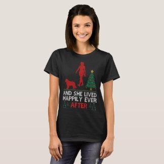 T-shirt St Bernard elle a vécu heureusement pour toujours