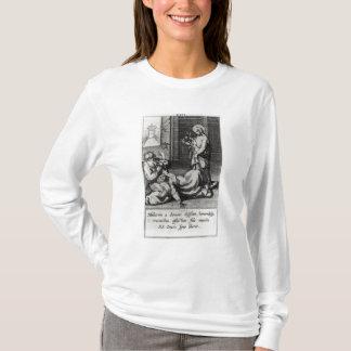 T-shirt St Catherine exorcisant un démon d'une femme