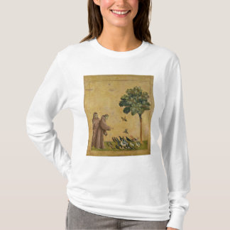 T-shirt St Francis d'Assisi prêchant aux oiseaux