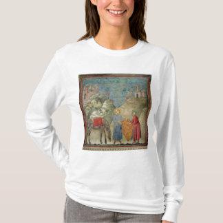T-shirt St Francis donne son manteau à un étranger