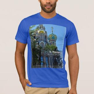 T-shirt St Petersburg, église du sauveur sur le sang