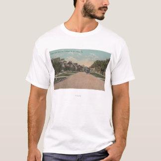 T-shirt St Petersburg, FL - vue de Dr. de plage et 5ème