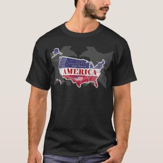 T-shirt States Blue appelé Eagle chauve T-Shirt-2 de