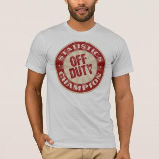 T-shirt Statistiques qui n'est pas de service