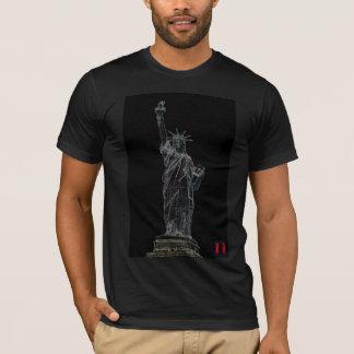 T-shirt statue de la liberté au néon