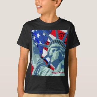 T-shirt Statue de la liberté et du drapeau américain