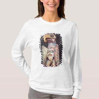 "T-shirt Statue de ""Thunderbird"" de Haida (bois peint)"