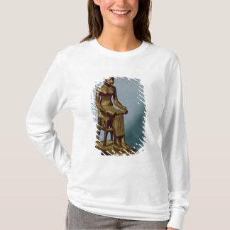 T-shirt Statue posée d'Imhotep tenant un ouvert