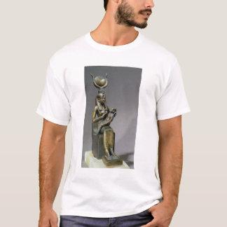 T-shirt Statuette d'ISIS et de l'enfant Horus de déesse