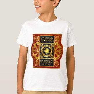 T-shirt Steamworks Atlantean - or et cuir sur le bois