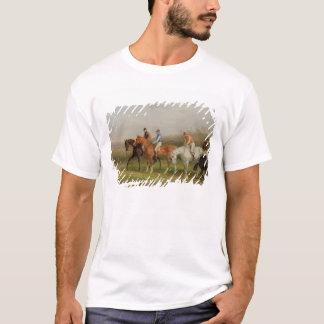 T-shirt Steeplechasing : Au début (huile sur la toile)
