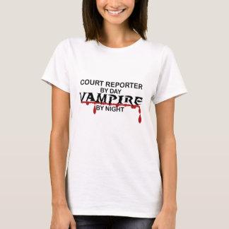 T-shirt Sténographe judiciaire par jour, vampire par nuit