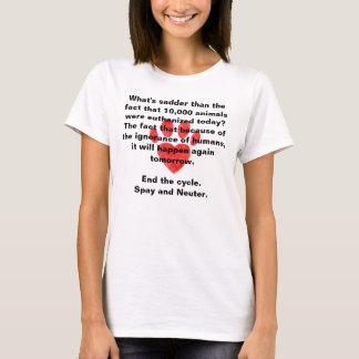 T-shirt Stérilisez et changez la chemise de Pawprint