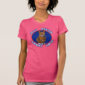 T-shirt Stérilisez le neutre adoptent l'amour