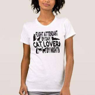 T-shirt Steward (hôtesse de l'air) d'amoureux des chats