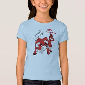 t-shirt STOP corrida torture