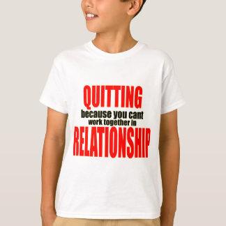 T-shirt stoppant le travail ensemble stoppé de rapport de
