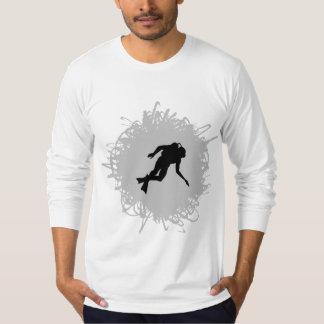 T-shirt Style de griffonnage de plongée à l'air