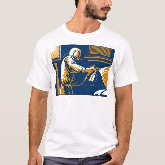 T-shirt Style de pistolet de pulvérisation de peinture de