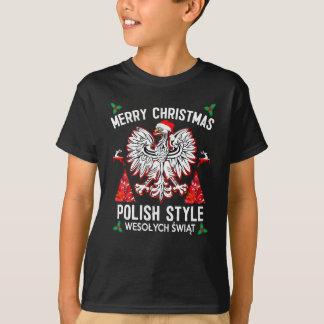 T-shirt Style de polonais de Joyeux Noël