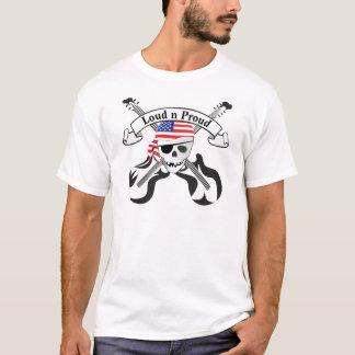 T-shirt Style des Etats-Unis de pirate de roche